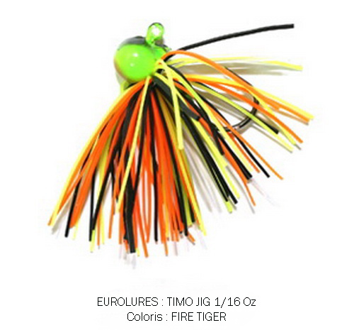 PAYO TIMO JIG 1/16 Oz FIRE TIGER (x 2)